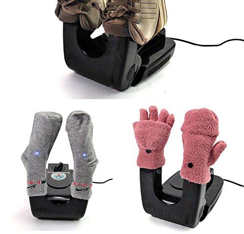 DMWD Ultraviolet bake shoes device deodorant sterilization Drying machine UV Folding Electric boots shoe dryer warmer 110V 220V (110V)