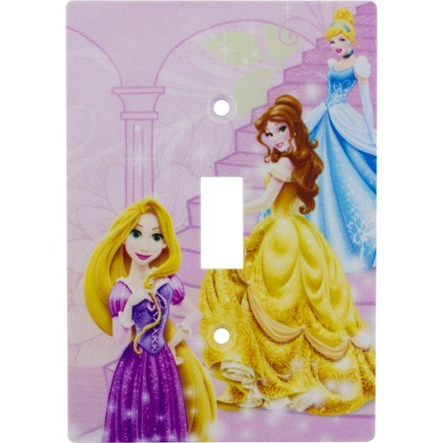 Disney Princesses Wall Plate Electric Light Switch Cover W/ Screws