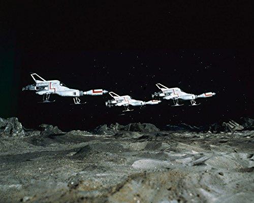 UFO three Interceptors above Moon base Gerry Anderson TV show 16x20 Canvas