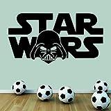 Star Wars Darth Vader - Wall Decal Art Sticker boy's bedroom playroom hall (Color: Black Size: Medium)