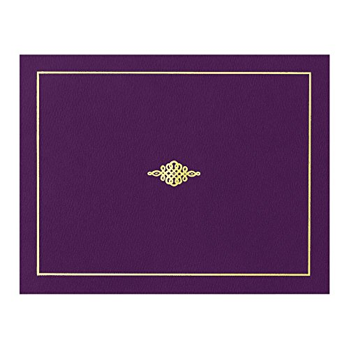 Certificate Jacket with Gold Foil Crest, 9-½ x 12 Inch Folded, Holds 8-½ x 11 Inch Certificates, 10 Count by PaperDirect