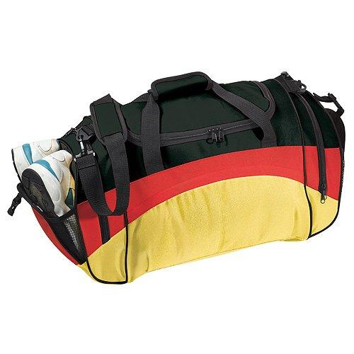 Große Sporttasche mit vielen Staumöglichkeiten im Deutschlanddesign ®elastofit