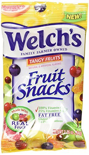 Welches Fruits Snack Tangy Fruits 2.25 Ounce (Pack of 48) by Welches