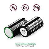 BONAI Rechargeable C Batteries 5,000mAh 1.2V
