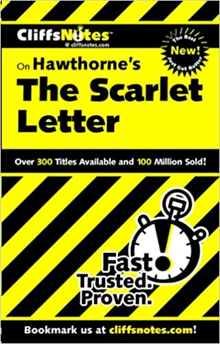 amazoncom cliffsnotes on hawthornes the scarlet letter cliffsnotes literature guides 0785555026483 susan van kirk books