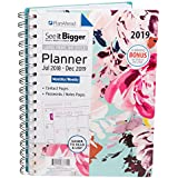 PlanAhead See It Bigger 18 Month Planner, July 2018 - December 2019, Assorted Colors (9.1 x 6.8 x 0.8 inches)