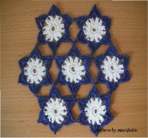 Crochet pattern flowers motif doily hot pad nr 04 pattern pdf: Crochet pattern flowers motif doily hot pad nr 04 pattern -