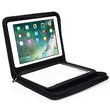 Samsung Galaxy Tab 2 10.1 padfolio case, COOPER BIZMATE Business Executive Portfolio Notepad A5 Paper Pad Organizer Folder Zipper Protective Notebook Cover Holder 8.5 x 5.5 (Black)