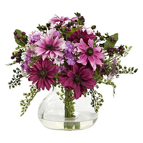 Nearly-Natural-Mixed-Daisy-Silk-Flower