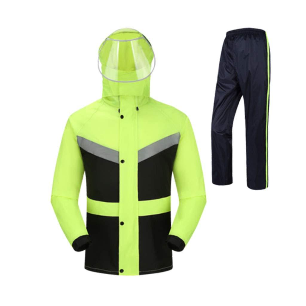 vert plus noir XXXL WSWJJXB Pantalon de Pluie imperméable, Double imperméable pour Homme, Double imperméable, Fibre de Polyester, imperméable réutilisable