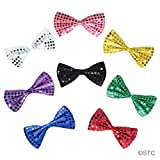 SeasonsTrading Black Sequin Bow Tie ~ Fun Costume Party Accessory (STC12057)