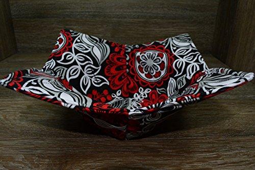 Microwave Bowl Cozy//Medium Bowl Cozy//Rockin Red Floral
