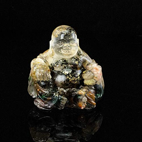 Energy Filled Crystal Laughing Buddha Resin and Embedded Crystals Manifestation Metaphysical Properties #87 by Inspirational Goodies (Image #3)