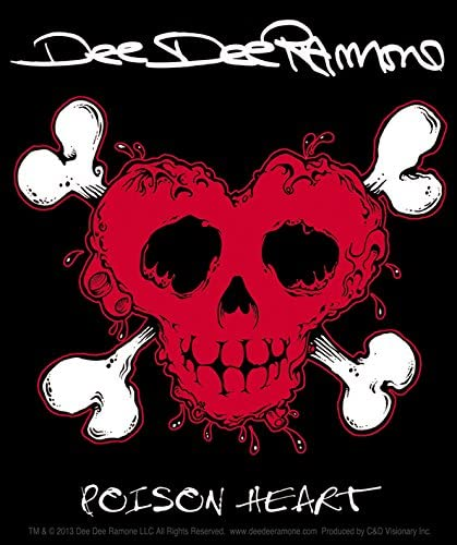 Amazon Com C D Visionary Dee Dee Ramone Poison Heart Sticker Toys Games