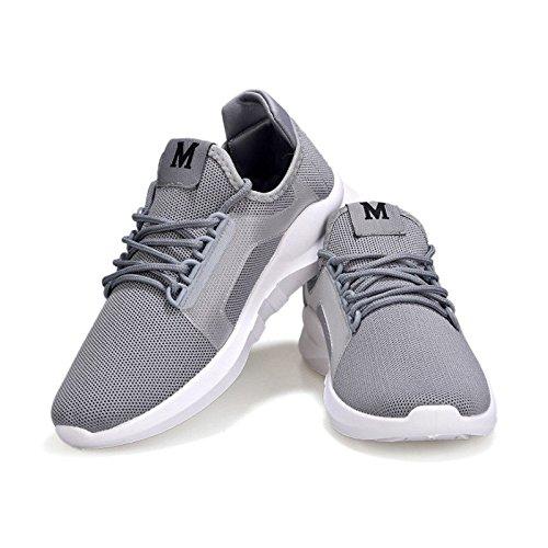 Sport Uomini Grigio Sneakers Da Scarpe Donne Outdoor Antiscivolo Bluelover Corsa Casual 10 Traspirante Atletica Bianco XqHg4S6w5x