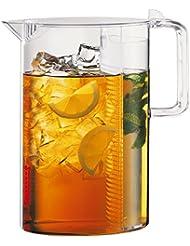 Bodum Ceylon Ice Tea Jug with Filter, 3.0 Liter, 101 Ounce, Clear