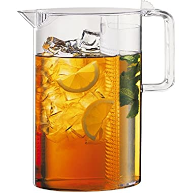 Bodum 10619-10, Ceylon Ice Tea Jug with Filter, 3.0 l, 101 oz., Clear