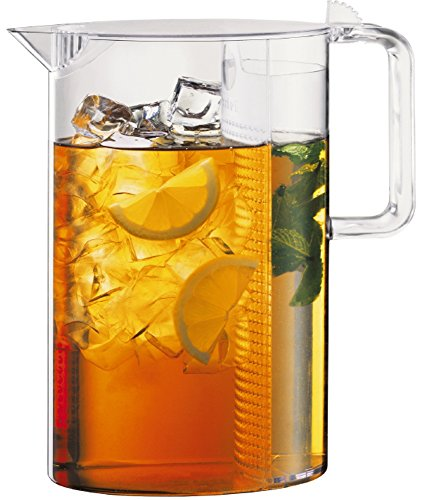 Bodum Ceylon Ice Tea Jug with Filter, 3.0 Liter, 101 Ounce, Clear