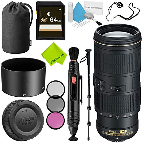 Nikon AF-S NIKKOR 70-200mm f/4G ED VR Lens Base Bundle (Nikkor 70 200mm F 4g Ed Vr)