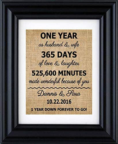 Second Wedding Anniversary Gifts For Men: Amazon.com: 1st Anniversary Print, 2nd Anniversary Gifts
