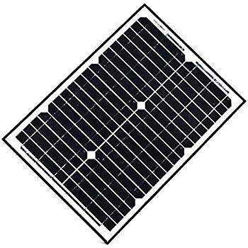 ALEKO 20W 20-Watt Monocrystalline Solar Panel