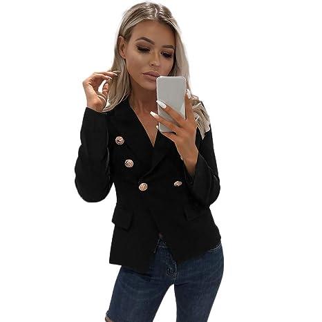 Posional Mujeres Blazers Chaqueta De Traje Slim Fit Elegante ...
