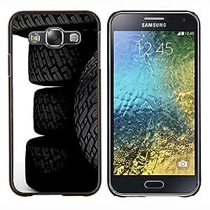 Eason Shop / Premium SLIM PC / Aliminium Casa Carcasa Funda Case Bandera Cover - Neumáticos Ruedas - For Samsung Galaxy E5 E500