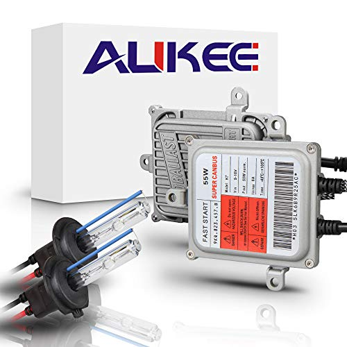 Aukee 55W H7 HID Kit Xenon Headlight Conversion Bulbs with Canbus Error Free Ballast - 5000K White