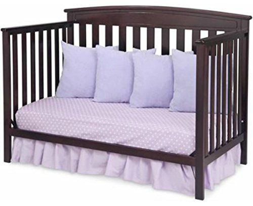 4-in-1 Convertible Baby Crib with a Kid-friendly Design That Grows with Your Baby. The Delta Children's Baby Crib Converts Into a Toddler Bed, a Daybed and a Full-size Bed with Headboard. Fixed-side Crib, Choose Your Finish. 100% Comfort Guaranteed! (Dark Chocolate)