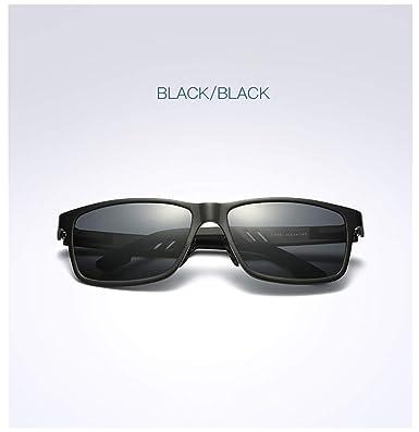 Wang-RX Hapigoo Clásico Hombres Gafas de Sol Polarizadas de ...