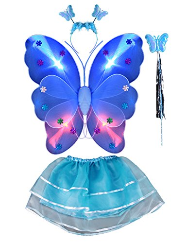 THEE 4pcs Girls LED Butterfly Wing Costume (Led Toddler Costume)
