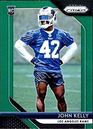 0ce7b55a5 2018 Panini Prizm Prizm Green  282 John Kelly Rookie Los Angeles Rams NFL  Football Trading