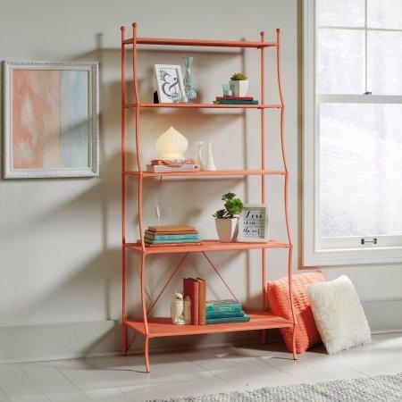 Sauder Eden Rue Bookcase, Coral Metal Finish, 32