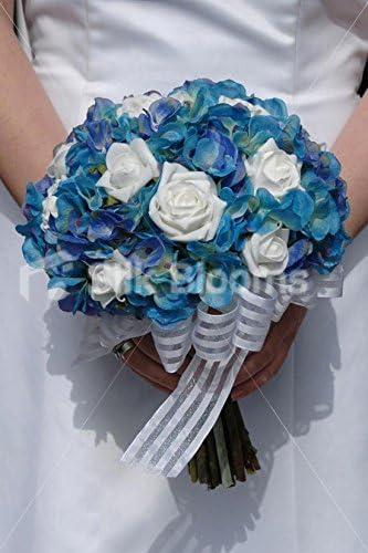 Embellishments UK seller Wedding Flowers 24 x  Burgundy ribbon Rose