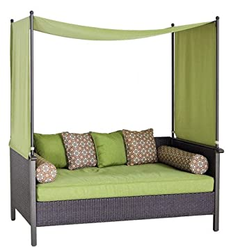 Outdoor Day Bed, Green. Relax U0026 Enjoy This Wicker Daybed. This Wicker  Outdoor