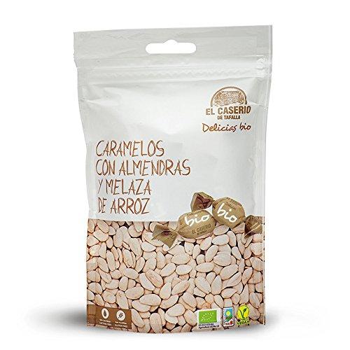 Caramelos BIO con almendras y melaza de arroz, 6 UNIDADES de 65gr/unidad,