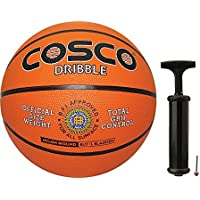 Cosco Dribble Basketball with Hand Pump- Size 5
