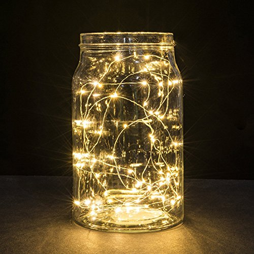 Christmas Best Decoration!!!Kacowpper 5Pcs Button Cell Powered Silver Copper Wire Mini Fairy String Lights with 20LED Beads,Enjoy a Warm Atmosphere