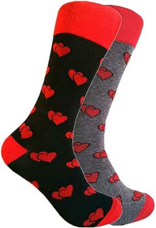 Black Valentines Socks with Red Cupid Design Socks Great Novelty Gift Socks