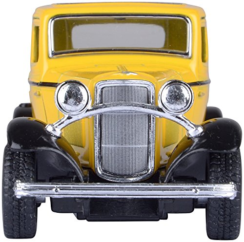 Kinsmart Catterpillar Die Cast 1932 Ford 3-Window Coupe Car with Openable Doors and Pull Back Action