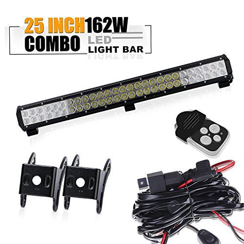 Bar Bull C1500 (TURBOSII 25Inch Led Light Bar On Front Bumper Bull Bar Push Bar Grille Fog Lights For Truck Xj Vw Jetta Toyota Xterra Trailer Suzuki Eiger Boat Mower 4Wheeler Dodge Ram Jeep Chevy Tahoe Polaris)
