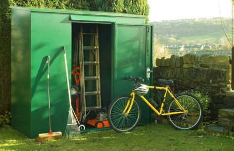 tall metal garden shed 7 x 3 ft supplied flat pack secure outdoor - Garden Sheds 7 X 3