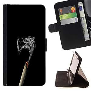 Momo Phone Case / Flip Funda de Cuero Case Cover - Cara de Humo;;;;;;;; - Sony Xperia Z1 L39