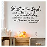 """master bedroom paint colors Trust in the Lord With All Your Heart..Proverbs 3:5-6 Vinyl Lettering Wall Decal Sticker (21""""H x 38""""L, Black)"""