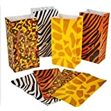 Wild zoo safari Animal print gift and goody bags - 36 pc by happy deals