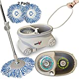 UNIEL Spin Mop and Bucket Microfiber Mop Easy to