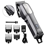 Professional Hair Clippers for Men BESTBOMG Rechargeable Cordless Hair Cutting Kit, Home Barber Hair Trimmer with Precision Blade, Heavy Duty Motor, LED Display and 2000mAh Lithium Battery