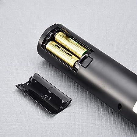 Mfshiye Juego de abridor de botellas de vino eléctrico, abridor de botellas de vino inalámbrico automático a batería con cortador de letras y tapón de vacío adjunto (estilo 1) Transparente