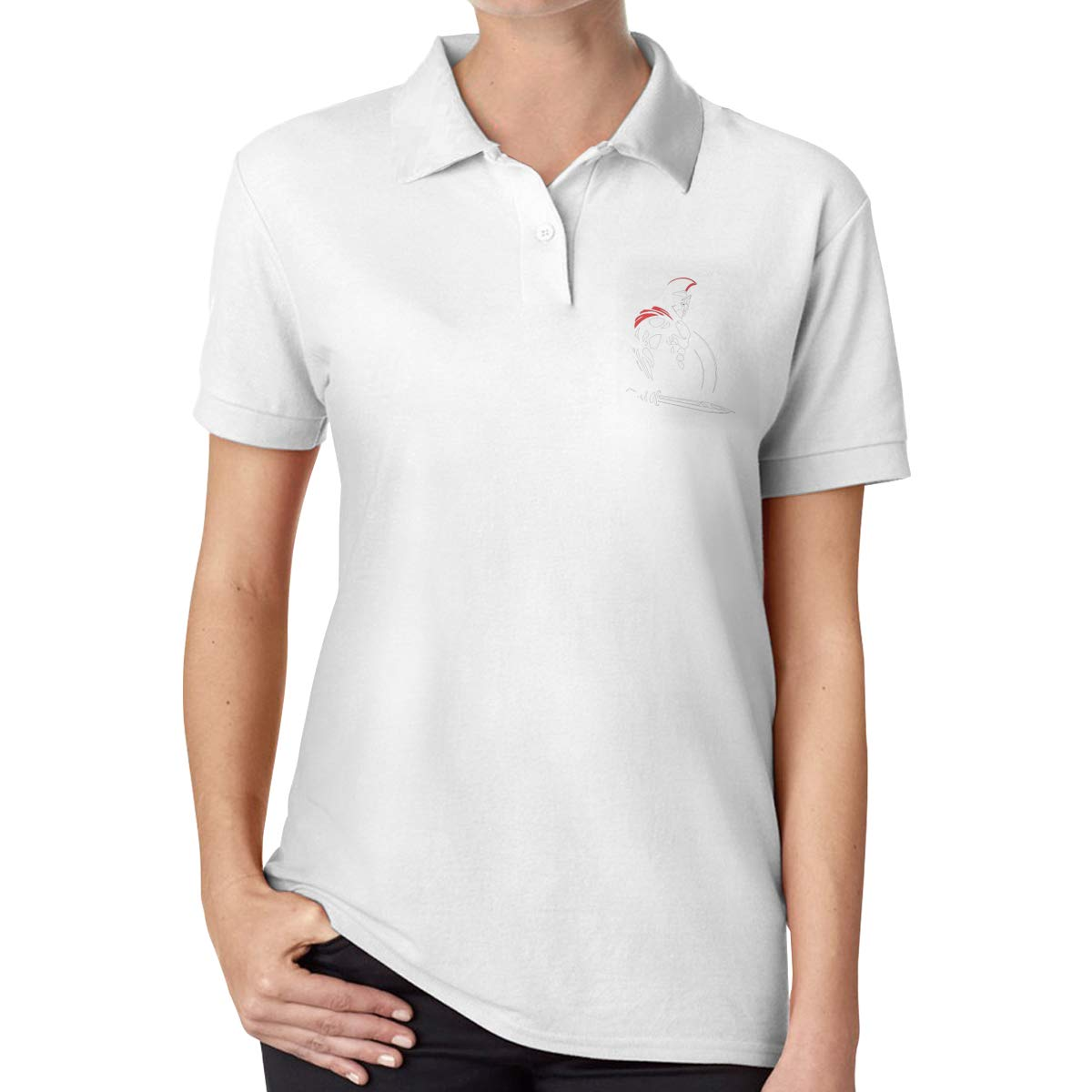 UP LUCK Spartan Women Premium Office Polo Shirt: Amazon.es: Ropa y ...
