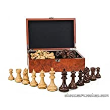 Luxury handmade wooden chessmen-CHESS pieces-weighted,felted-EXTRA queens-in BOX